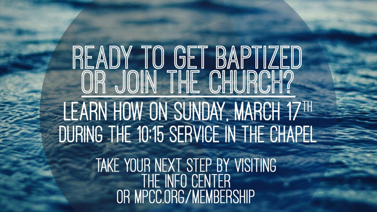 Membership and Baptism Class