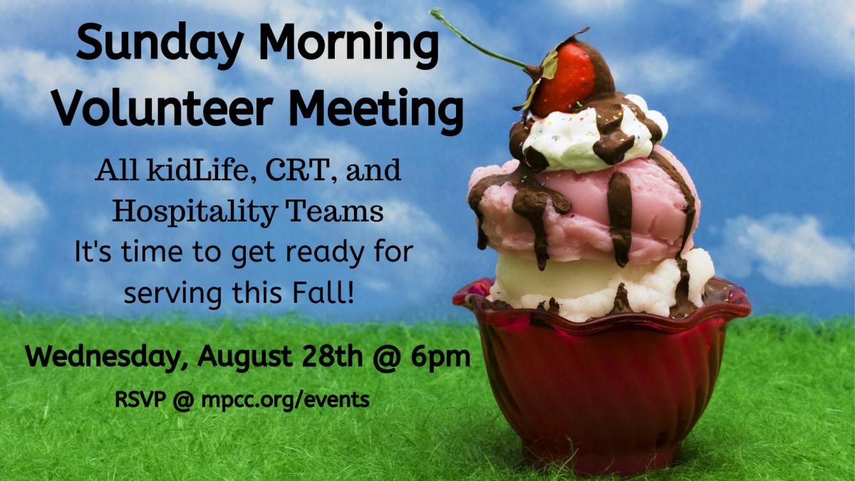 All Volunteer Meeting